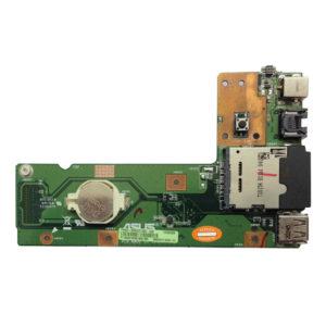 Плата питания + USB, LAN, CardReаder для ноутбука Asus K52J, K52F, X52F, K52, K52JR, K52DR (K52JR_DC_BOARD, 60-NXMDC1000-C01, 60-NXMDC1000-E01, 60-NXMDC1000-C02)