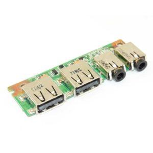 Плата 2xUSB, 2xAUDIO для ноутбука Asus K53SV, K53SD, K53E, A53E (K53SV IO BOARD, 69N0KDB10H01-01, 60-N3GIO1000-H01)