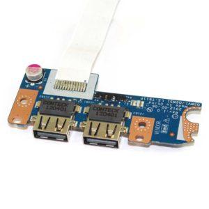Плата 2xUSB со шлейфом 12-pin 190×13 мм для ноутбука Acer Aspire E1-521, E1-531, E1-571, Packard Bell TE11 (Q5WV1/Q5WS1 LS-7911P, P5WE0 USB30 NBX0000V800)