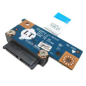 Соединительная плата SATA с приводами DVD для ноутбуков Acer Aspire E1-521, E1-531, E1-571, Packard Bell TE11 (Q5WT6 LS-8531P) + шлейф (Q5WT6 NBX00015200)