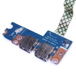 Плата USB (2 разъема) для ноутбука Acer Aspire V3-551, V3-571 (Q5WV8 LS-8331P) + шлейф (HAMBURG-SH E235863 AMW 20798 80C 60V VW-1)