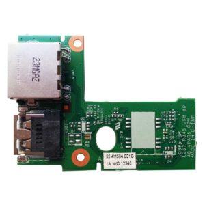 Плата USB + LAN RJ45 Ethernet для ноутбука Lenovo IdeaPad Z575 (Модель: 55.4M504.001G, LZ57 RJ45 USB BD 48.4PA05.C2M)