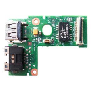 Плата 1xUSB + LAN RJ45 Ethernet для ноутбука Lenovo IdeaPad B570, B575, Z570, Z575 (55.4M504.001G, LZ57 RJ45_USB BD 48.4PA05.02M)