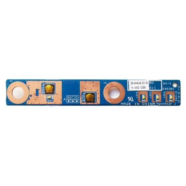 Плата кнопки старта, запуска, включения для ноутбука Lenovo Z570, Z575 (Модель: 55.4M404.001G)