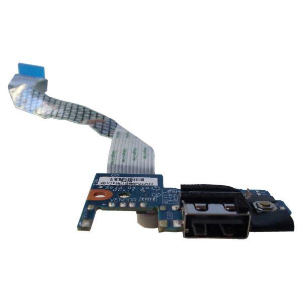 Плата кнопки включения, старта, запуска + 1xUSB для ноутбука Samsung NP355V4C (LS-8865P) + шлейф 12-pin 145x13 мм (NBX00017M00)