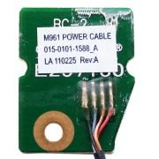 Плата кнопки старта, запуска, включения ноутбука Sony Vaio PCG-61211V, VPC-EA, VPCEA, VPCEA4M1R (M961 POWER CABLE. 015-0101-1588_A) + шлейф 4-pin 95 мм