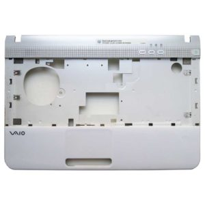 Верхняя часть корпуса ноутбука Sony Vaio PCG-61211V, VPCEA4M1R, VPCEA3M1R White/Silver Белая/Серебристая (012-130A-2984-B) + тачпад (Synaptics TM1441, TM-01441-001)