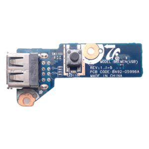 Плата кнопки включения, старта, запуска + 2xUSB для ноутбука Samsung R525, R528, R530, R538, R540, R580, R730, R780, RV508, RV510, NP-R525, NP-R528, NP-R530, NP-R538, NP-R540, NP-R580, NP-R730, NP-R780, NP-RV508, NP-RV510 (BA92-05996A, Bremen(USB) REV:1.1-5)
