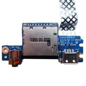 Плата USB + Audio + Card Reader для ноутбука Lenovo IdeaPad G500s, G505s (VILG1/GZ LS-9901P) + шлейф 14-pin 233 мм (VILG1 NBX0001EG00)