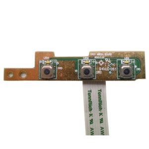 Плата функциональных кнопок Настройки, Центра поддержки и Включения/выключения дисплея для ноутбука Dell Inspiron 15R, N5110, M5110 (DN15, 50.4IF03.101 A01) + шлейф 8-pin 140x9 mm (TennRich-K AWM 20861 105C VW-1)