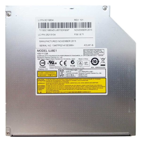 Привод DVD+RW Panasonic UJ8E1 8x SATA 12.7 мм без панели (0C19804, 25213104)