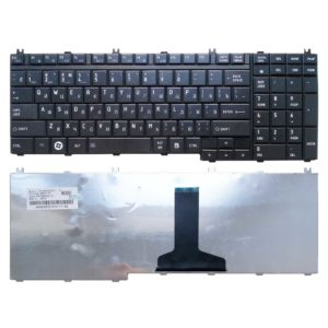 Клавиатура для ноутбука Toshiba Satellite A500, A500D, A505, A505D, F501, L350, L350D, L355, L355D, L500, L500D, L505, L505D, L510, L510D, L515, L515D, L550, L550D, L555, L555D, P200, P200D, P205, P205D, P300, P300D, P305, P305D, P500, P500D, P505, P505D, X200, X205, Qosmio G50, G55, F60, F750, X300, X500, X505, Black Чёрная (V160331AS1, 23C23-RU)
