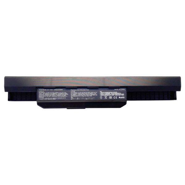 Аккумуляторная батарея для ноутбука Asus A43, A53, A54, A83, A84, K43, K53, K54, K84, P43, P53, Z52, Z53, X43, X44, X45, X52, X53, X54, X84 DC 10.8V 5200mAh/56Wh Black Чёрная (A32-K53, A42-K53, BC06)