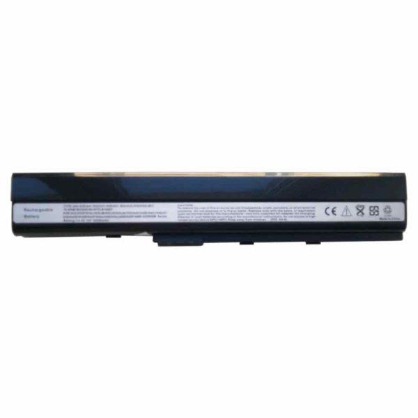 Аккумуляторная батарея для ноутбука Asus A40J, A42, A62, A52, B53, F85, F86, K42, K52, K62, N82, P42, P52, P62, P82, P52S, PR067, PR08C, Pro5IJ, X42, X5I, X52, X67, X8C DC 14.4V 5200mAh Black Чёрная (A32-K52)