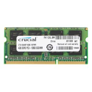 Модуль памяти SO-DIMM DDRIII 4Gb PC-12800 1600 Mhz Crucial