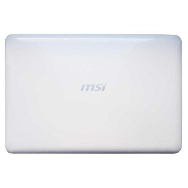 Крышка матрицы ноутбука MSI S30, MS-1358, 0M-049, 0M-007, 0M-080 White Белая (E2P-351A123-Y31, 351A133Y31, E2P-351AX2X-Y31)