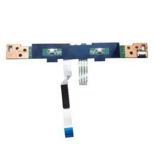 Плата кнопок тачпада с 2-мя шлейфами по 8-pin 100×9 мм и 37×9 мм для ноутбука HP Pavilion g6-2000, g6-2xxx (DA0R33TB6E0, 35R33TB0010)