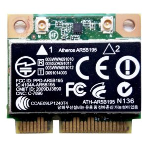 Модуль Wi-Fi + Bluetooh BT 3.0 Mini PCI-E Atheros AR5B195 802.11b/g/n (593127-001, 592775-001, WCBN606AH-H1, ATH-AR5B195, Atheros AR5B195)