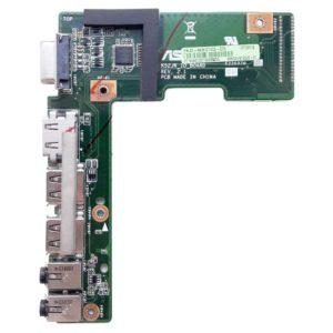 Плата 2xUSB, HDMI, VGA, Audio для ноутбуков серий Asus K52, X52 (K52JR_IO_BOARD, 60-NXNI01000-D03, 69N0GUB10D03-01)