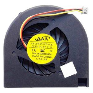 Вентилятор, кулер для ноутбука HP CQ50, CQ60, CQ70, G50, G60, G70 для INTEL с интегрированным видео, 3-pin (XS10N05YF05VBJ)