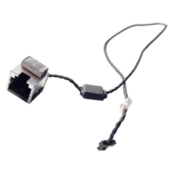 Разъем RJ11 Ethernet Modem с кабелем 2-pin 330 мм для ноутбука Toshiba Satellite A200, A205, A210, A215 (ISKAE DC301002D00)