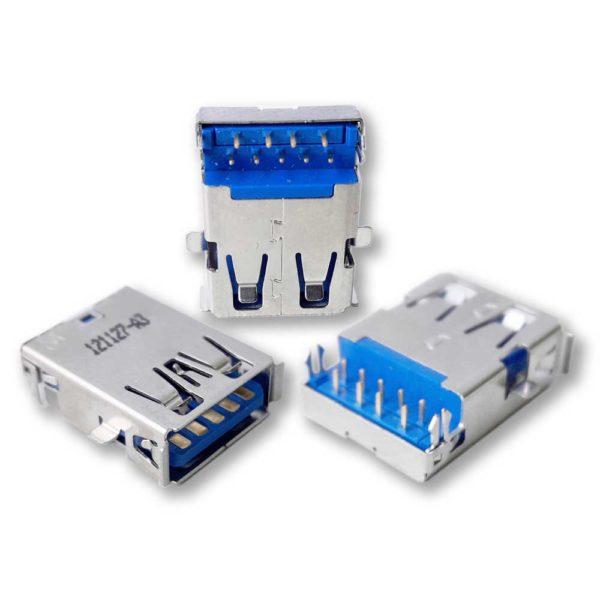 Разъем USB 3.0 для ноутбука Asus K53, K53J, K53JG, K53JF, K53SN, K53SV, N53S, A53SV, K53SD, K53SV, N53SN, N53SV, K43E, K43S, K43SA, K43SD, K43SJ, K43SV, K43SM, X43E одинарный (121127-A3)