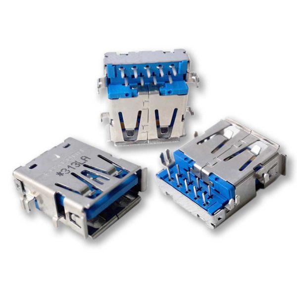 Разъем USB 3.0 для ноутбука Samsung RC512, RF411, RF511, RV510, RV710 одинарный (313LA)