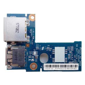 Плата 1xUSB + LAN RJ45 Ethernet для ноутбука Lenovo IdeaPad B570, B575, Z570, Z575 (55.4PA03.021G, LZ57 RJ45_USB BD, 48.4PA05.02M)