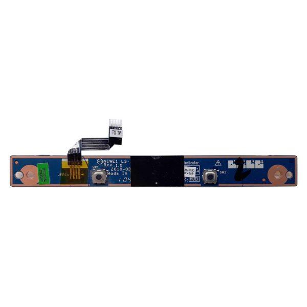 Плата кнопок тачпада со шлейфом 4-pin 35x5 мм для ноутбука Lenovo IdeaPad G560, G565 (LS-5760P, NIWE1 NBX0000Q200)