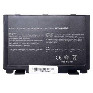 Аккумуляторная батарея для ноутбука Asus K40, K50, K60, K61, K70 11.1V 5200mAh 58Wh (A32-F82, A32-F52, L0690L6)