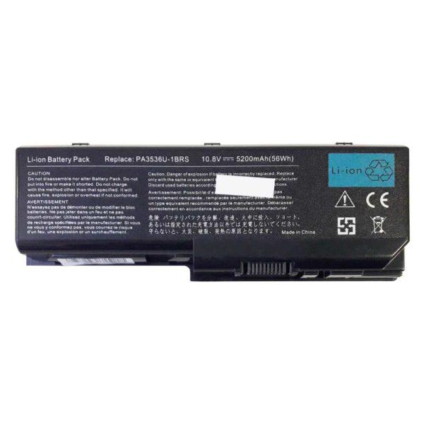 Аккумуляторная батарея для ноутбука Toshiba Equium P200, P300, Satellite L350, L355, P200, P205, P300, P305, X200, X205, Satellite Pro L300, L350, P200, P300 10.8V 5200mAh/56Wh Black Черная (PA3536U-1BRS, PA3537U-1BAS, LBTS3536B)
