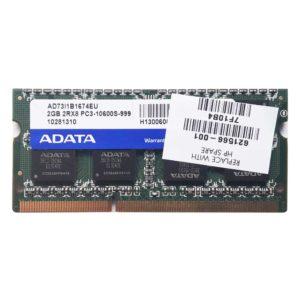 Модуль памяти SO-DIMM DDR3 2 ГБ PC-10600 1333 Mhz PC3-10600S-999 ADATA (AD73I1B1674EU)