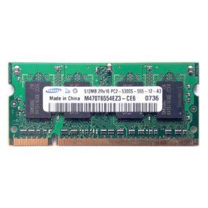 Модуль памяти SO-DDR2 512 МБ PC-5300 667 Mhz Samsung, SEC (M470T6554EZ3-CE6)