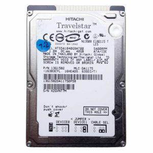 "Жесткий диск 40 ГБ IDE 2.5"" HITACHI Travelstar 5400 rpm 8 МБ для ноутбука (HTS541040G9AT00, 13G1582) Б/У"