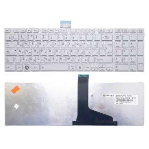 Клавиатура для ноутбука Toshiba Satellite C50, C70, C70D, C75, C75D, C850, C850D, C855, C855D, C870, C870D, C875, C875D, L50, L850, L850D, L855, L855D, L870, L870D, L875, L875D, P870, P875, P850, P855 White Белая (0KN0-ZW3RU03, NSK-TV1SU, 9Z.N7USU.10R, H000050660)