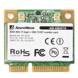 Модуль Wi-Fi 802.11b/g/n + Bluetooth 802.15 BT combo card PCI-E AzureWave RT3290 (AW-NB087H, VQF-RT3290)