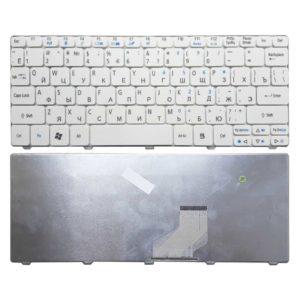 Клавиатура для ноутбука Acer Aspire One 521, 522, 532, 532H, 533, D255, D255E, D257, D260, D270, Happy, Happy2, eMachines 350, 355, em350, em355, Gateway LT21, LT27, LT28, Packard Bell NAV50, Dot S2, Dot SE, Dot SC, Dot SE3, PAV80 White Белая V111102AS, YXX2291 G161122)
