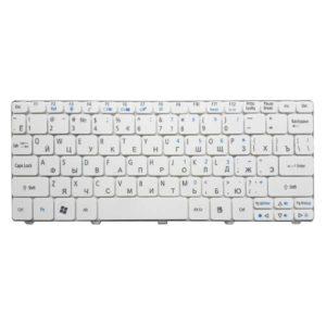 Клавиатура для ноутбука Acer Aspire One 521, 522, 532, 532H, 533, D255, D255E, D257, D260, D270, Happy, Happy2, eMachines 350, 355, em350, em355, Gateway LT21, LT27, LT28, Packard Bell NAV50, Dot S2, Dot SE, Dot SC, Dot SE3, PAV80 White Белая (OEM)
