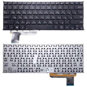 Клавиатура для ноутбука Asus X201, X201E, X202, X202E, VivoBook S200, S200E, S201, S201E без рамки, Black Черная (MP-12K1, 0KNB0-1104RU00, AEEX2U01110)