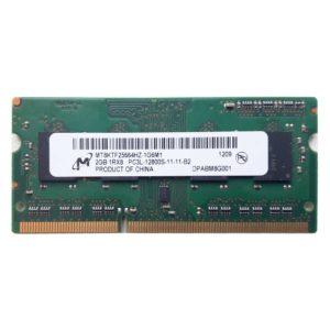 Модуль памяти SO-DIMM DDR3L 2 ГБ PC-12800 1600 Mhz Micron 1Rx8 PC3L-12800S-11-11-B2 (MT8JTF25664HZ-1G6M1)