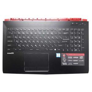 Верхняя часть корпуса с клавиатурой и подсветкой для ноутбука MSI GP62 6QF Leopard Pro (E2P-6J1C216-Y31, E2P-6J102XX-Y31, V143422GK1 RU 09JM0030)