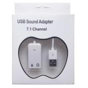 Звуковой адаптер S/B USB 2.0 TRAA71 White BOX