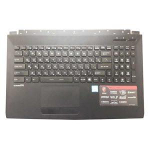 Верхняя часть корпуса с клавиатурой для ноутбука MSI GL62, GL62 6QF без тачпада (E2P-6J4C713-P89, 3076J4C713P89, V143422DK1 RU, S1N3ERU, S1N3ERU2V1SA000) Б/У