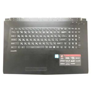 Верхняя часть корпуса с клавиатурой для ноутбука MSI GL72, GL72 6QF без тачпада (E2P-793C221-P89, E2M-793-KB-S-HG0, 307793C221P89, 151019-010, V143422DK1 RU, S1N3ERU, S1N3ERU2V1SA000) №1 Б/У
