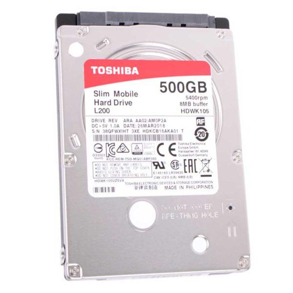 "Жесткий диск 2.5"" 500 ГБ Toshiba L200 SATA III 5400 об/мин Slim 7 мм (HDWK105UZSVA)"