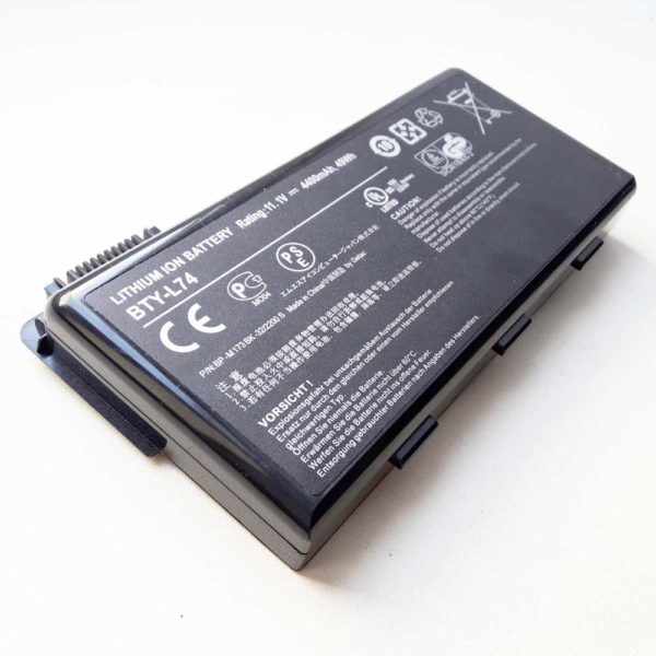 Аккумуляторная батарея для ноутбука MSI A5000, A6000, A6005, A6200, A7200, CR500, CR500X, CR600, CR605, CR610, CR620, CR630, CR700, CX500, CX500DX, CX600, CX605, CX610, CX620, CX623, CX700, CX720, GE700, MS-1681, MS-1683, MS-1731, MS-1734, MS-1736 11.1V 4400mAh 49Wh Original Оригинал, Black Черная (BTY-L74) Износ 7% под восстановление