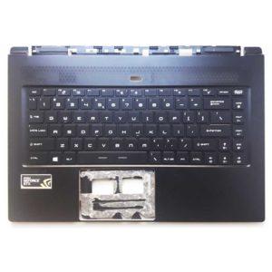 Верхняя часть корпуса с клавиатурой и подсветкой для ноутбука MSI GS65 Slealth Thin 8RF, только английские буквы, русских букв нет, без тачпада (E2P-6Q10211-TA2, E2P-6Q102XX-TA2, 3076Q1C211HG0, DARF0N, NSK-FDBBN, 9Z.NEVBN.B1D, S1N3EUS, S1N3EUS, S1N3EUS292D1000) Б/У