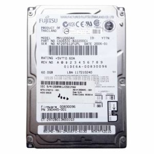 "Жесткий диск 60 ГБ IDE 2.5"" FUJITSU 5400 rpm 8 МБ для ноутбука (MHV2060AH) Б/У"