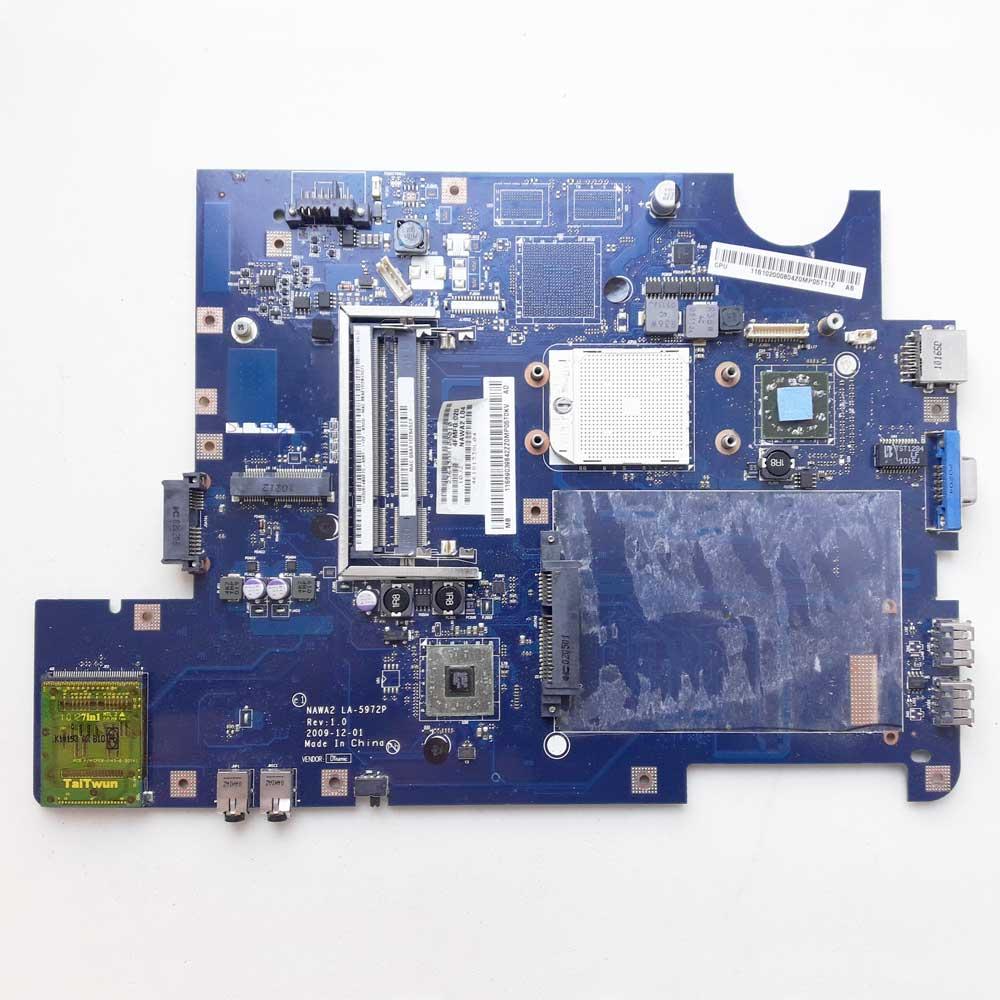 Материнская плата для ноутбука Lenovo IdeaPad G550, G555 DDR2 AMD (NAWA2 LA-5972P Rev:1.0, 11S69039842ZZ0) под восстановление