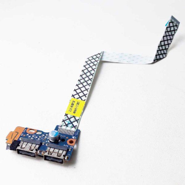 Плата кнопки включения, старта, запуска + 2xUSB со шлейфом 12-pin 200x13 мм для ноутбука Samsung NP350V5C, NP355V5C, 350V5C, 355V5C (LS-8865P, NBX00017L00)